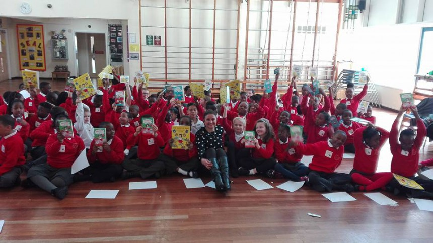 Beatrice and the London Bus post book author - group picture - Southwark BOOK TOUR