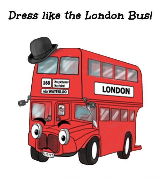 BUS COLOUR WHITE BACKGROUND_Dresslike the London Bus